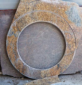 Scrap granite left over from making a lazy susan.