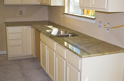 Surf Green Countertops in a San Antonio Kitchen