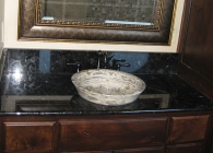 Elegant Counter with Semi-Inset vessel Sink