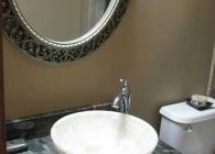 Verde Marinache Bathroom with Full Bullnose Edge