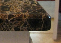 1/4-inch Bevel on Emperador Dark Marble