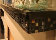 San Marcos Black Granite Mantel