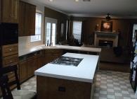 Rustic Coral Granite Kitchen BEFORE