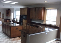 Rustic Coral Granite Kitchen AFTER