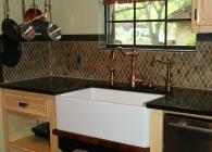 Uba Tuba Kitchen Counter with Undermount Farmhouse Sink