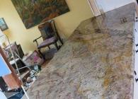 Typhoon Bordeaux Rustic Granite Kitchen Island