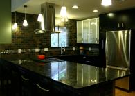Volga Blue Granite Kitchen Peninsula