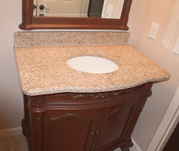 Goldstone Granite Vanity Top