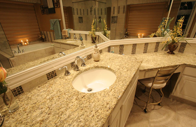 Giallo Ornamental Granite Master Bathroom Counter