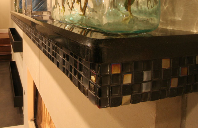 San Marcos Black Granite Mantel