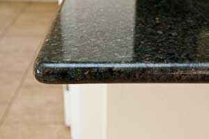 Full Bullnose edge on Uba Tuba Granite