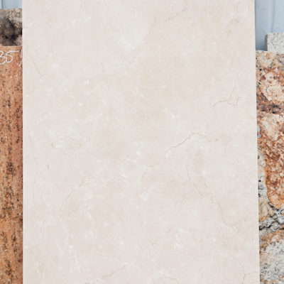 Crema Marfil Marble Remnant in Austin Texas