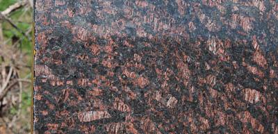 tan brown granite master bathroom countertop