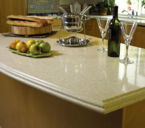 CaesarStone Champagne Limestone Kitchen