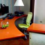 CaesarStone Quartz Desk in Tequila Sunrise 2430 (Commercial Line)