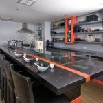 CaesarStone Quartz Bar Counter Tequila Sunrise and Ebony Reflections (Commercial Line)