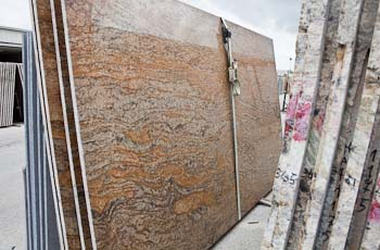 Slab of Copper Canyon Exotica granite