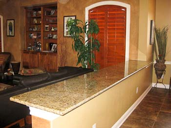 New Venetian Gold granite ledge