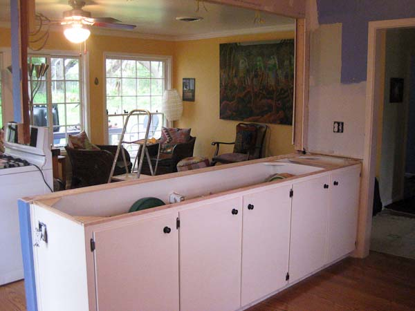 White Cabinets without countertops