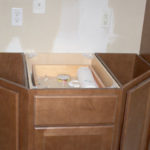 Spice Colored Cabinets before granite tops were installed