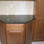 Peacock Green Granite Counter with Angled Edges