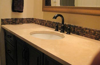 Creme Marfil Marble Bathroom Countertop