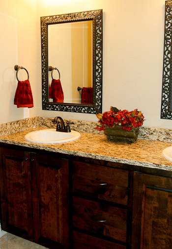 Granite Backsplash for a Bathroom Vanity