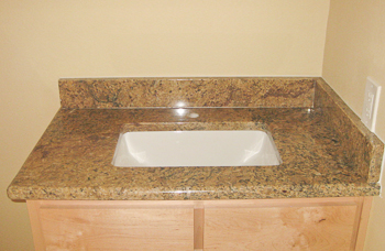 Matching Granite Backsplash